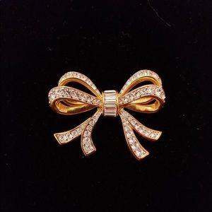 Swarovski Pave Crystal Bow Pin